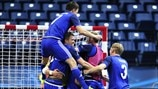 Kazakhstan players celebrate