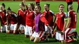 Austria players celebrate