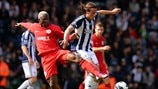 Arouna Koné (Wigan Athletic FC) & Jonas Olsson (West Bromwich Albion FC)