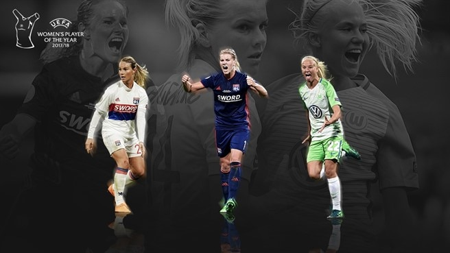 Women's Player of the Year: Harder, Hegerberg e Henry candidate