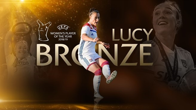 Lucy Bronze vince il premio UEFA Women's Player of the Year