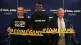 #EqualGame launch - UEFA President/Paul Pogba/Eddie Thomas